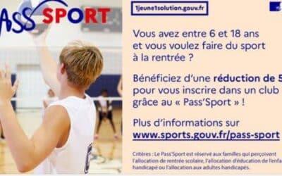 Dispositif «Pass'Sport»